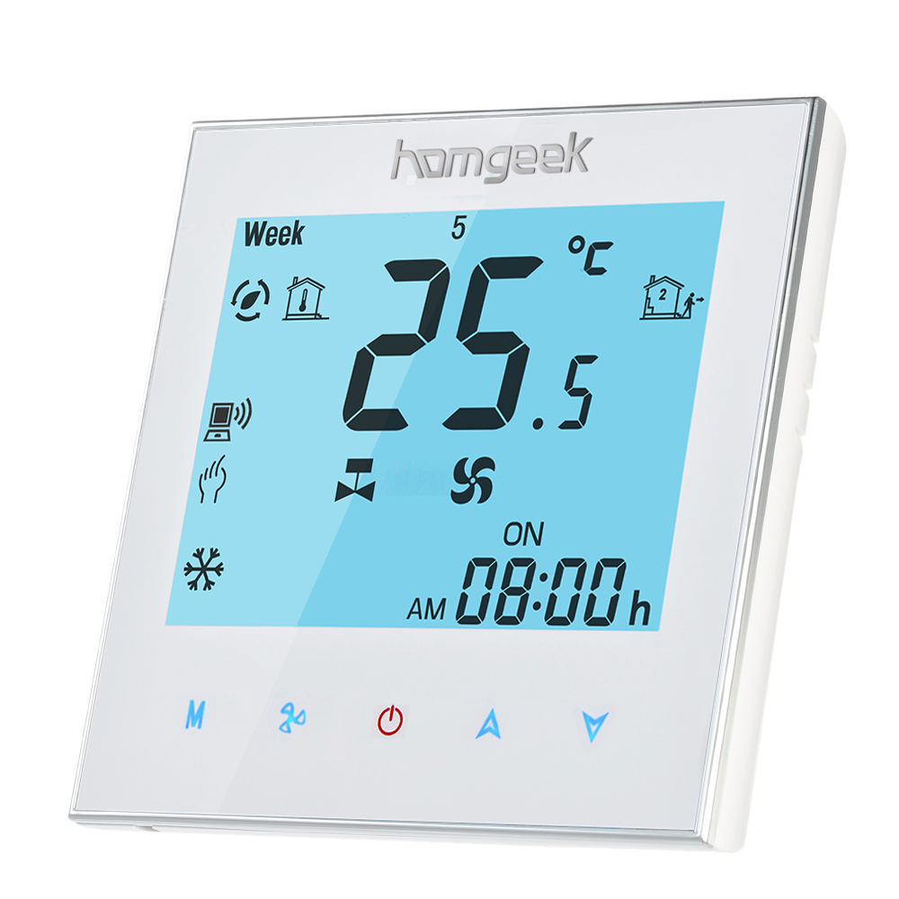 Homgeek 110240v Air Conditioner 2 Pipe Thermostat With Lcd Room Temperature Controller Buy At Amazon