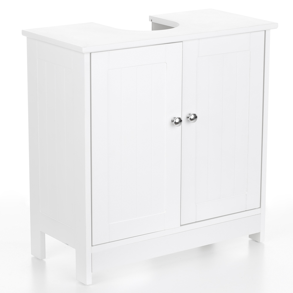 White Under Sink Bathroom Storage Cabinet ikayaa modern under sink bathroom storage cabinet with doors