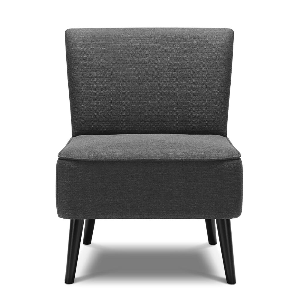 Fauteuil contemporain large assise gris interougehome h17015fr for Fauteuil contemporain