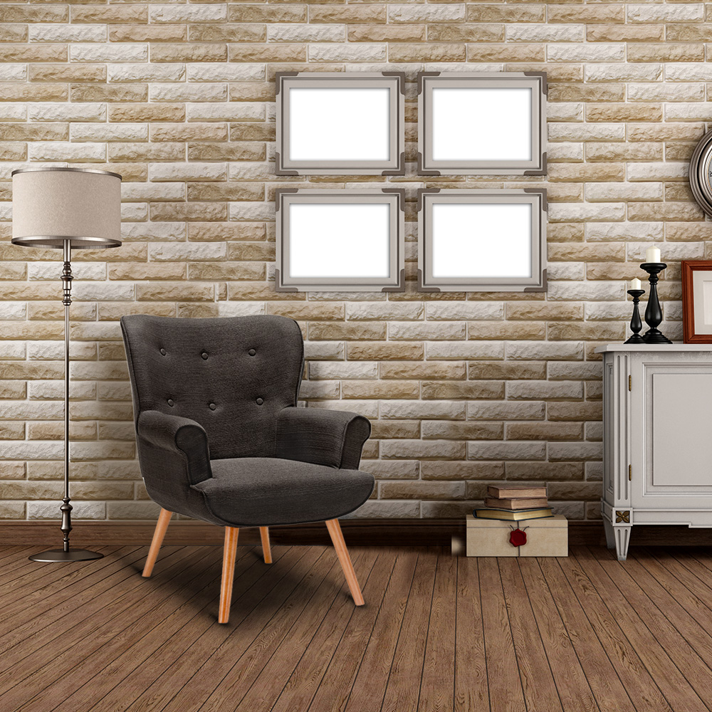 fauteuil de s jour ultra confort style scandinave dossier haut 2 coloris caf seulement 175. Black Bedroom Furniture Sets. Home Design Ideas