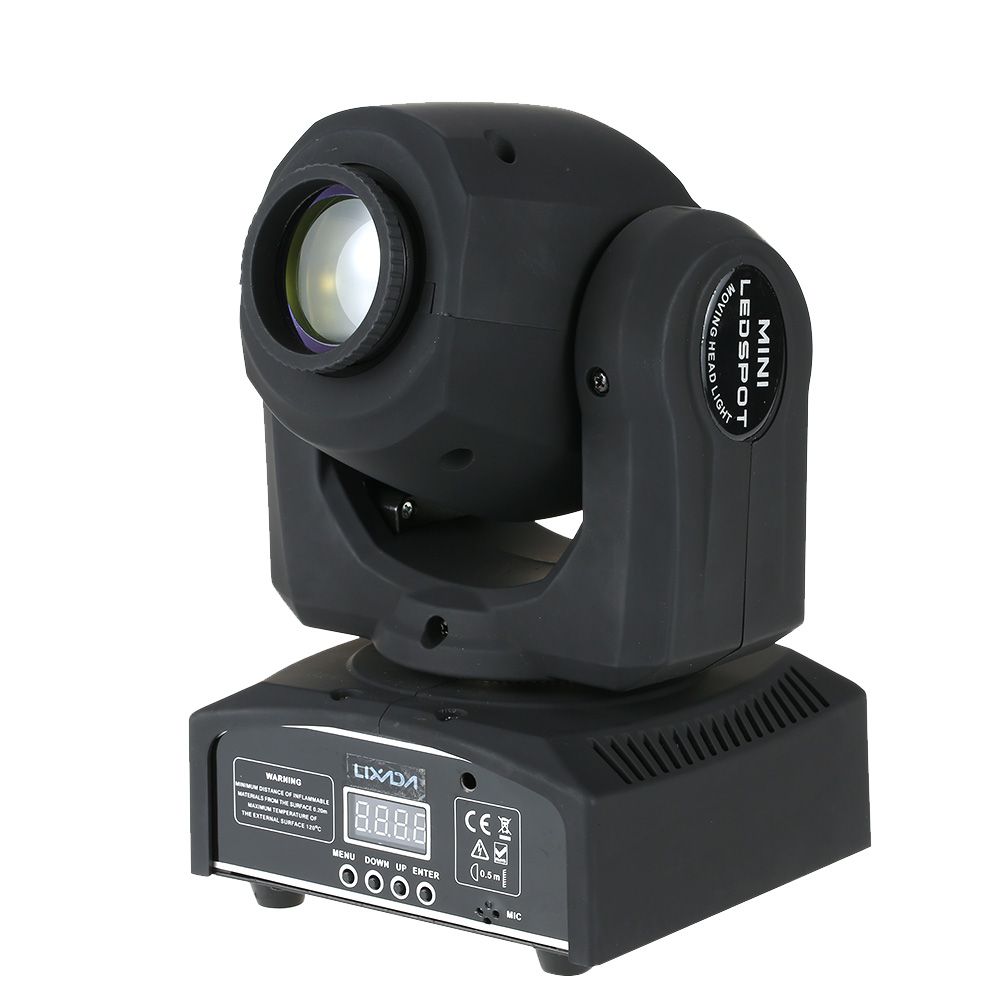 Lixada led stage light lixada 50w 9 11 channel high bright gobo pattern mini moving head light rgbw led stage effect light support dmx 512 sound activation automatic run for arubaitofo Gallery