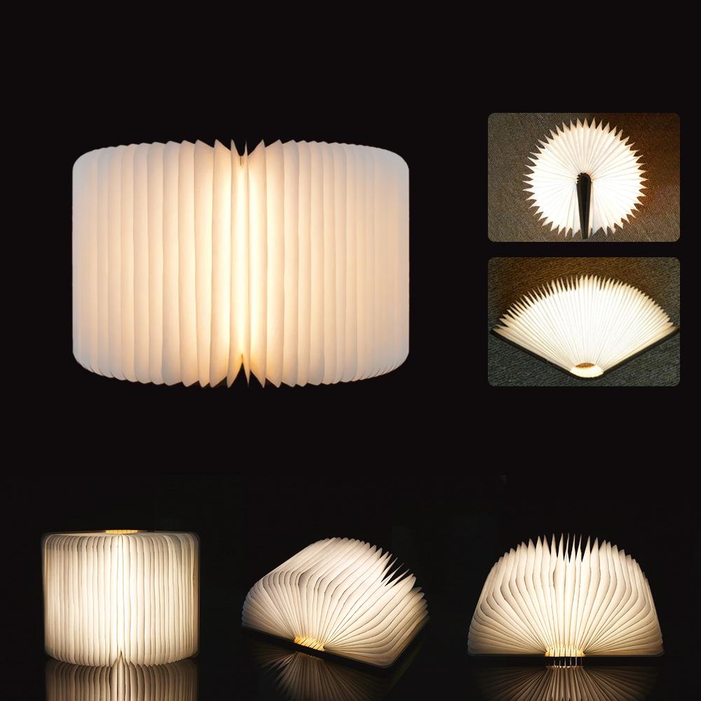Tomshine Rechargeable Usb Port Led Mini Folding Book Light Shape