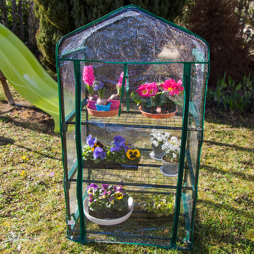 mini serre de jardin botanique 3 tag res 69 49 125 cm. Black Bedroom Furniture Sets. Home Design Ideas