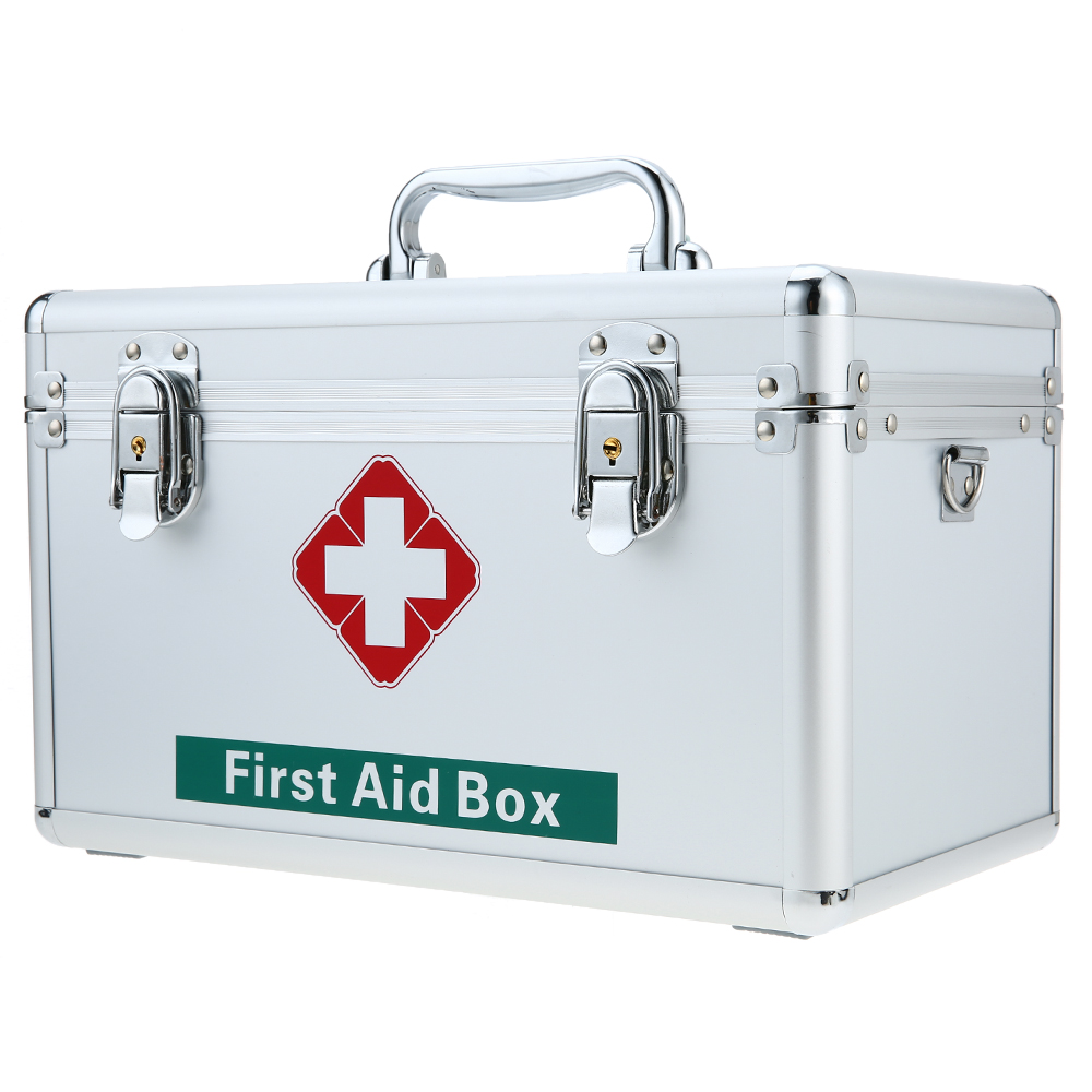Etonnant Carevas Lockable Large First Aid Medicine Storage Box Case Detachable Tray