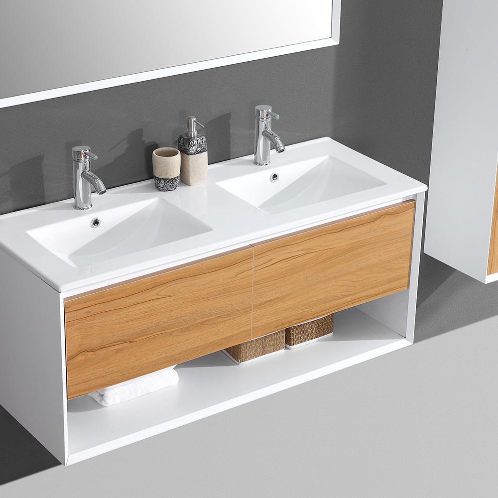 Ensemble de meubles de salle de bain double vasque aloa - Vers de salle de bain ...