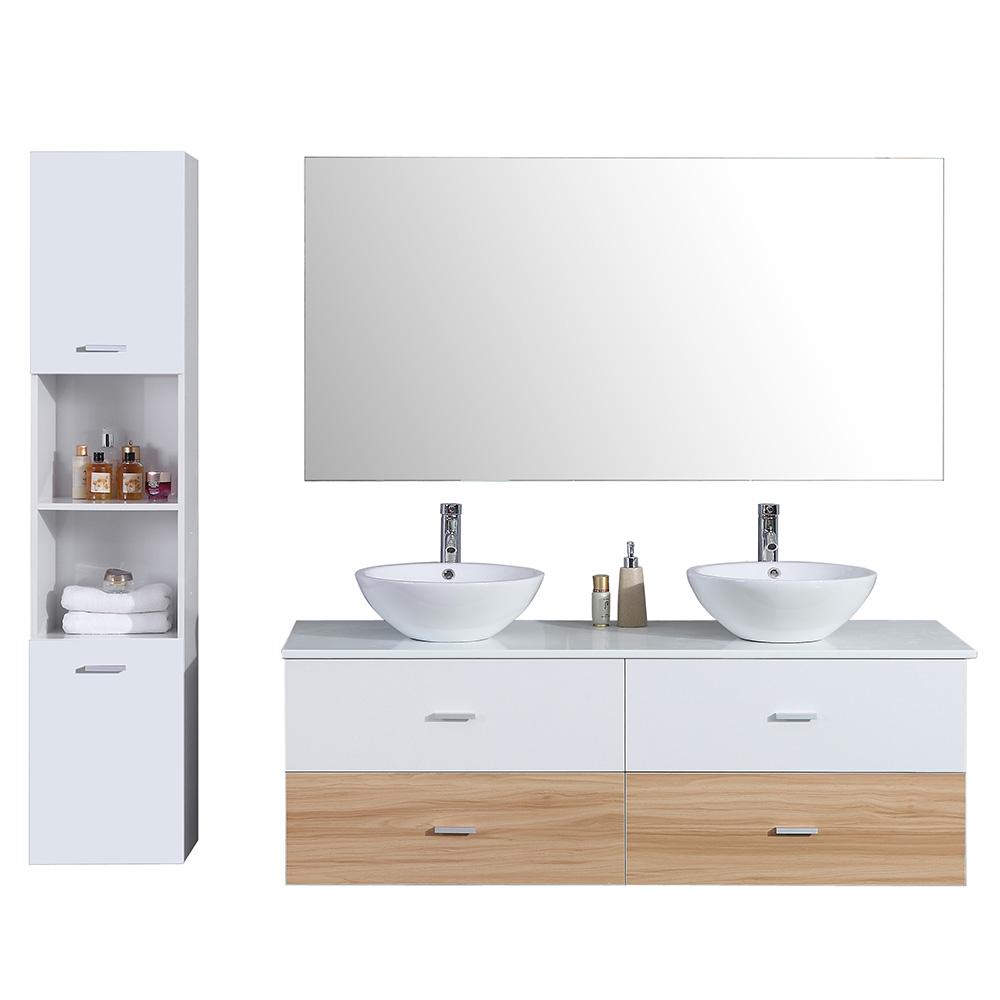 Pylone Salle De Bain ~ meuble de salle de bain aloa suspendu avec double vasque coloris