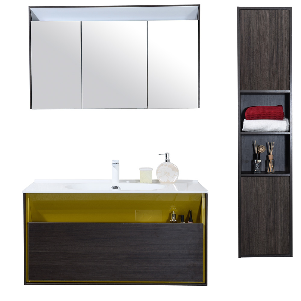 Dès 759.00€, Meuble salle de bain avec colonne de rangement simple ...