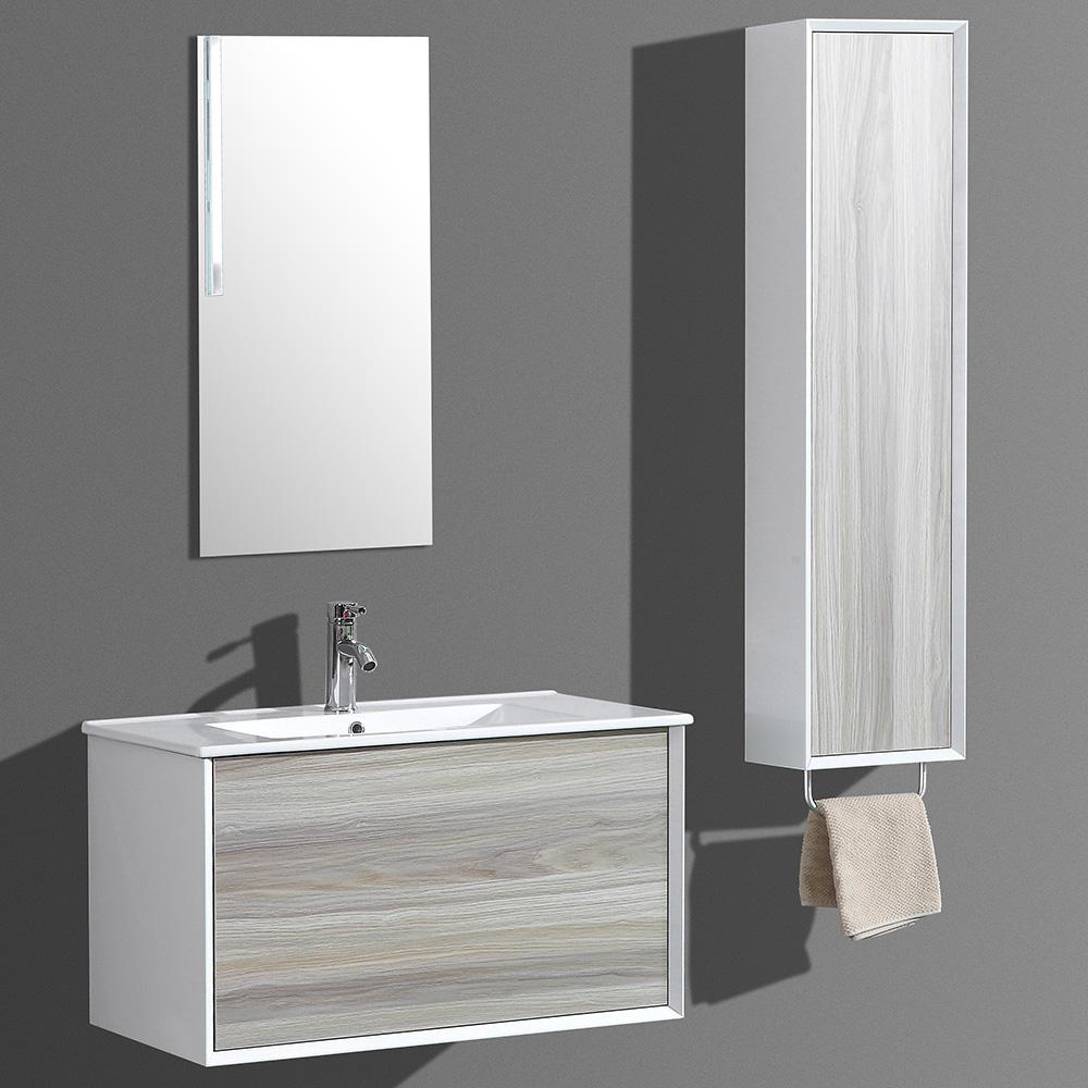 Meuble de salle de bain aloa suspendu avec simple vasque for Meuble salle de bain double vasque et colonne