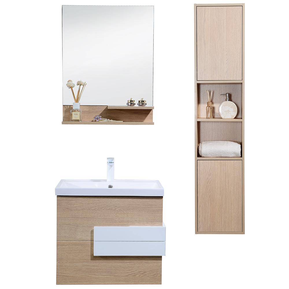 Dès 449.00€, Meuble salle de bain avec colonne de rangement simple ...