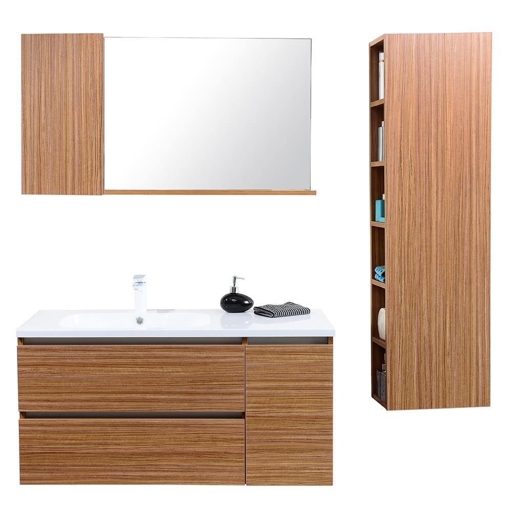 Dès 659.00€, Meuble salle de bain avec colonne de rangement simple ...