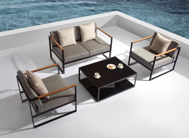 Nur 788.00€, Salon de jardin en Aluminium – 4 places - Interouge