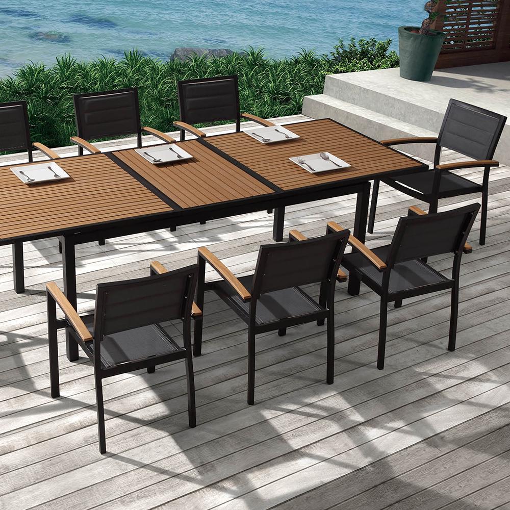 ensemble table et fauteuils de jardin dolceza noir - Ensemble Table Jardin