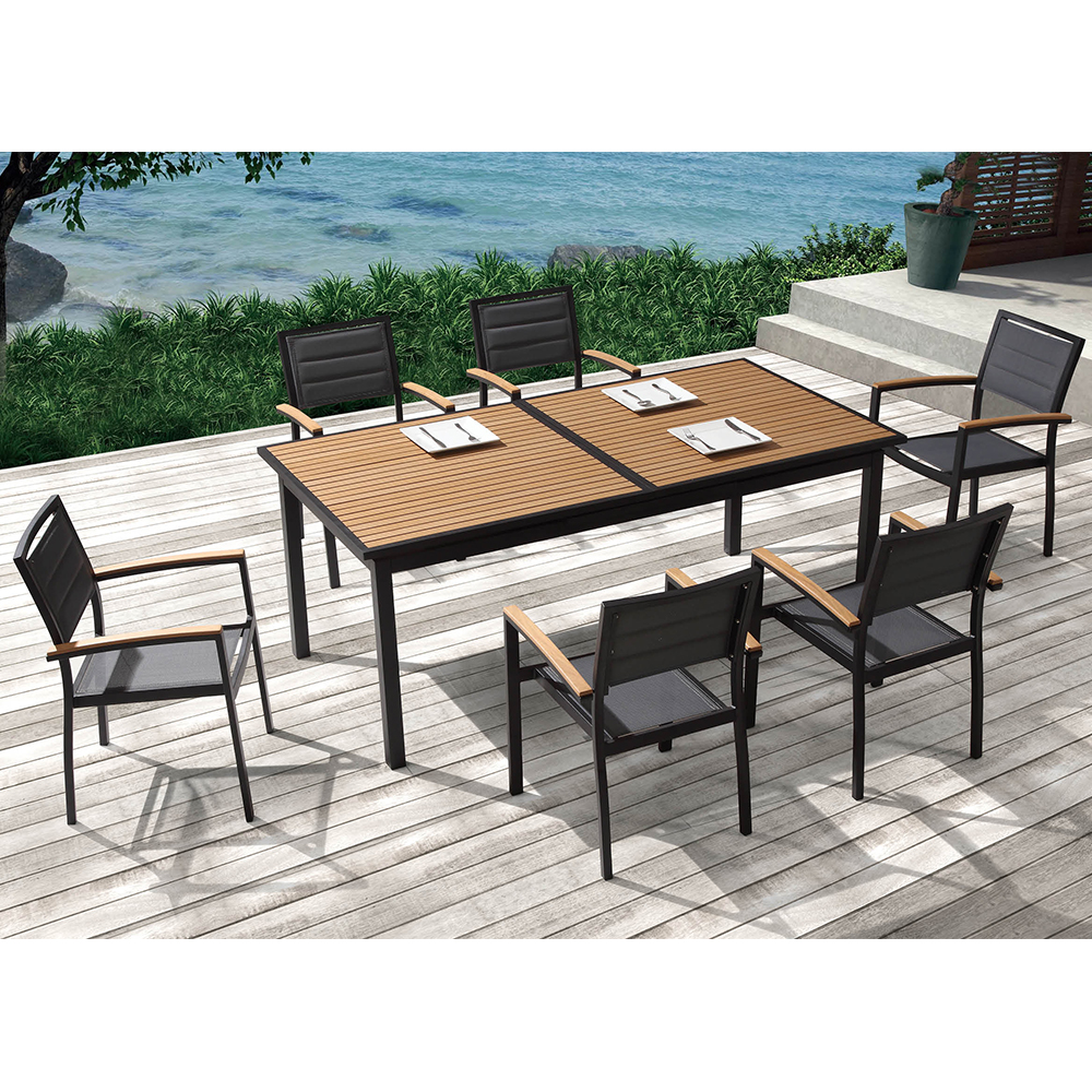 D s table et chaise de jardin dolceza ensemble for Ensemble table et chaise extensible