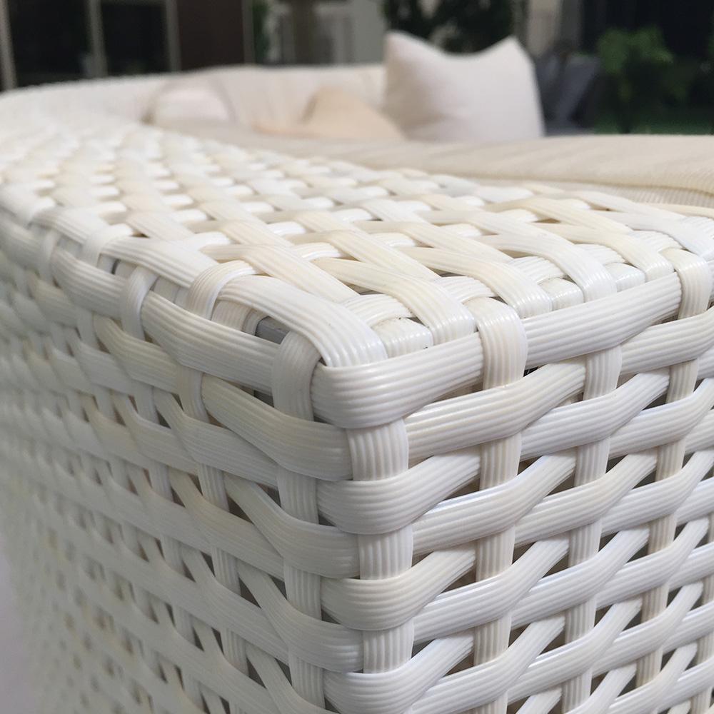Dès 1,999.00€, Salon de jardin RILASA : rond modulable en résine tressée  Coloris Blanc Ecru blanc - Interougehome.com