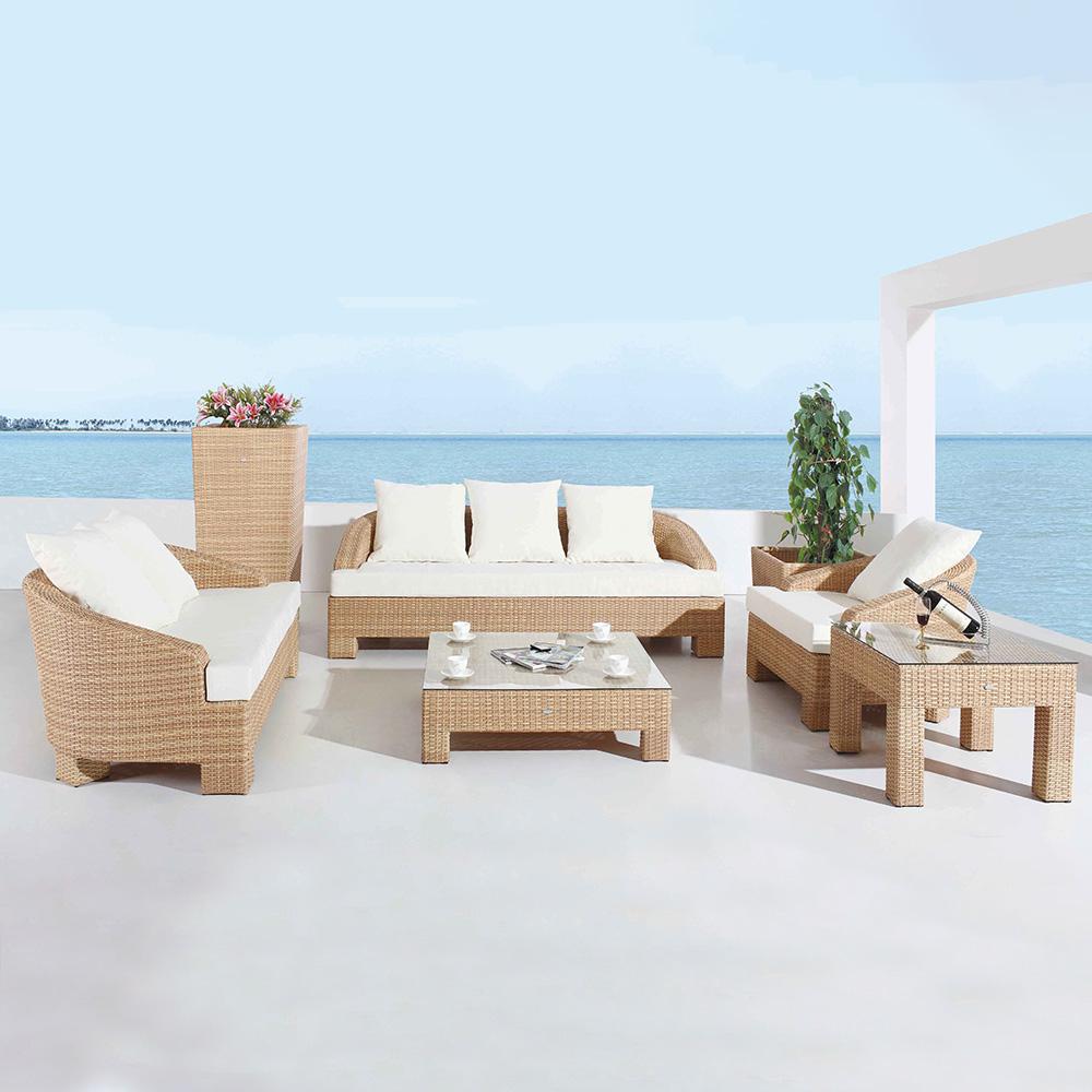 de jardin RILASA : Canapé 4 places + canapé 3 places + fauteuil + ...