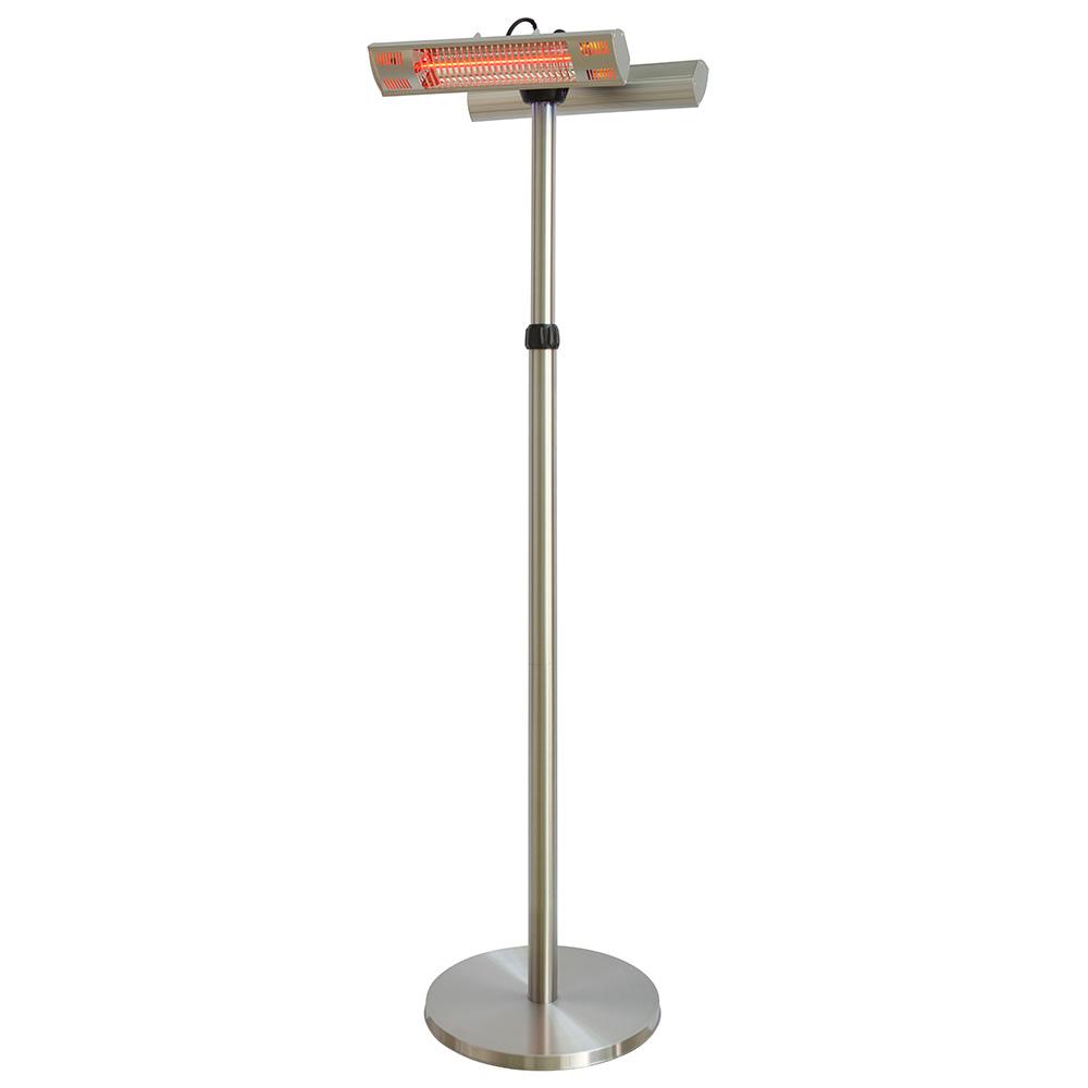parasol chauffant lectrique double lampes type halog ne. Black Bedroom Furniture Sets. Home Design Ideas