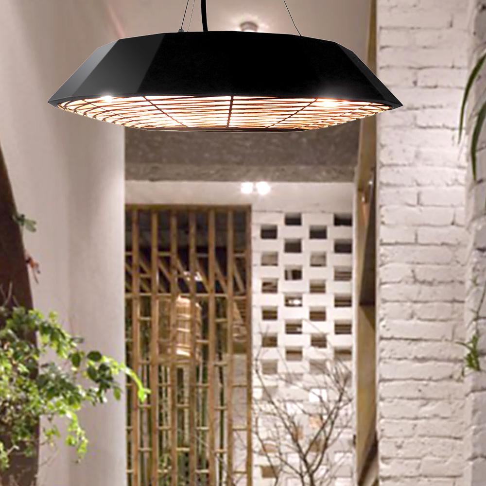 suspension chauffante d 39 ext rieur lectrique avec lampe. Black Bedroom Furniture Sets. Home Design Ideas