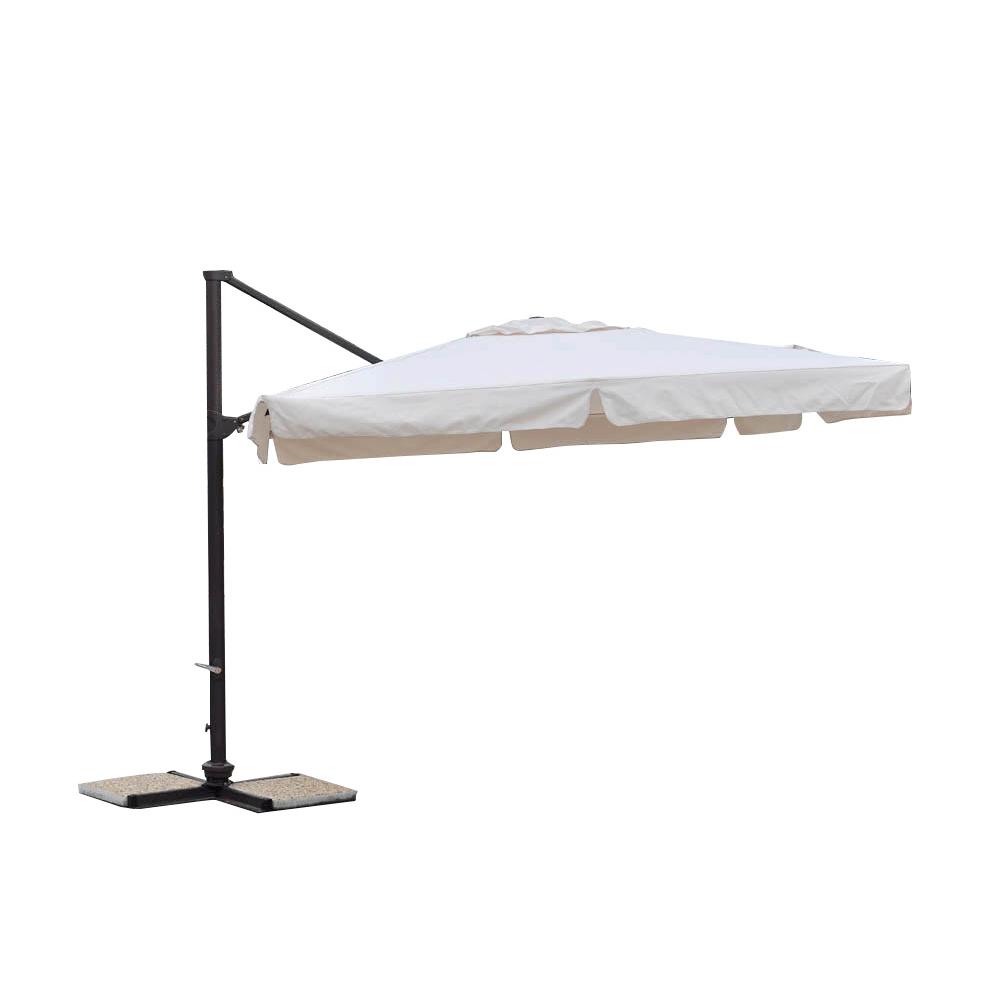parasol d port pro 3x3m alu 80x53mm avec bandeaux cr me. Black Bedroom Furniture Sets. Home Design Ideas
