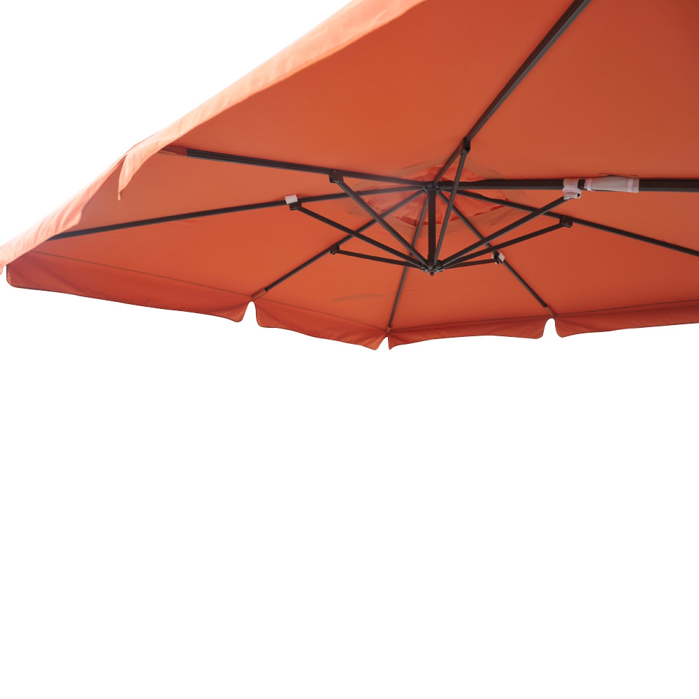 parasol d port pro 3x3m alu 80x53mm avec bandeaux orange. Black Bedroom Furniture Sets. Home Design Ideas