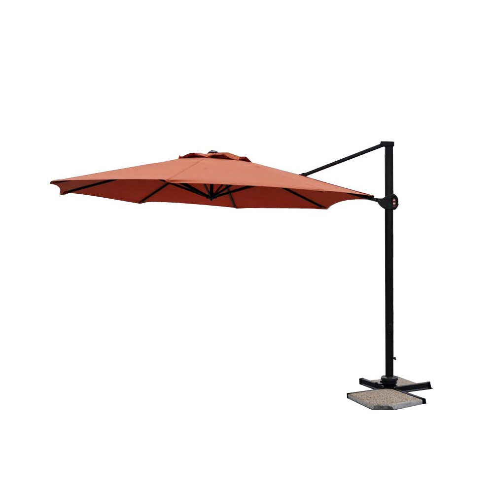 parasol excentr dia350cm alu 80x53mm orange. Black Bedroom Furniture Sets. Home Design Ideas