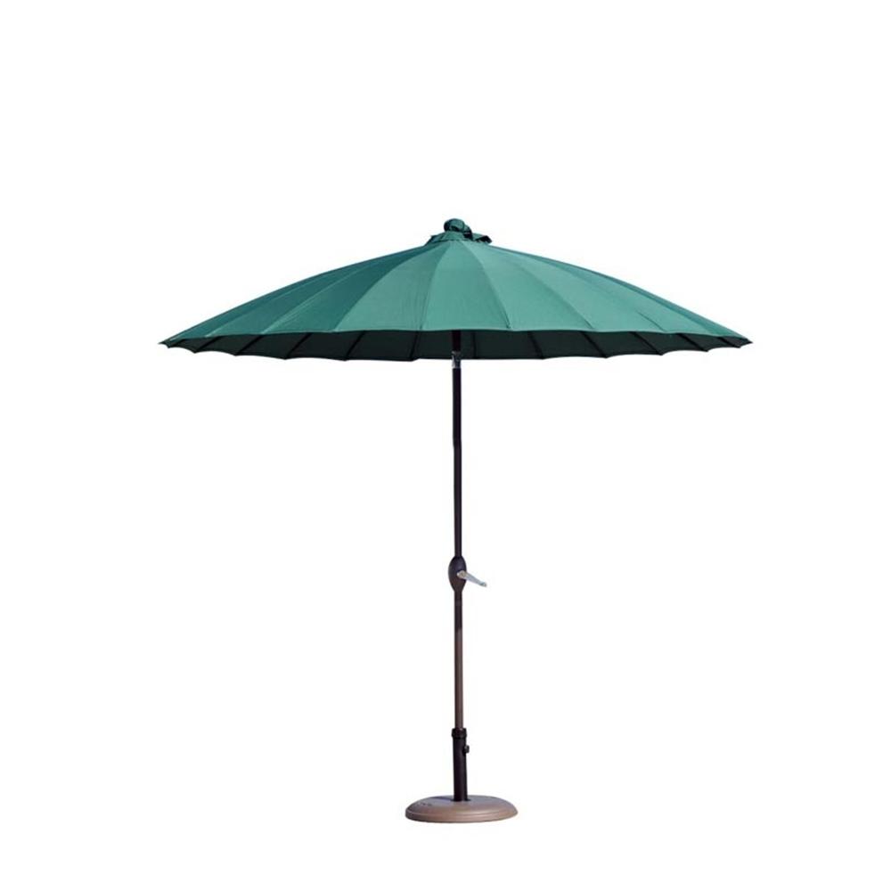 parasols shanghai dia 250cm pied 22kg offert vert sapin. Black Bedroom Furniture Sets. Home Design Ideas