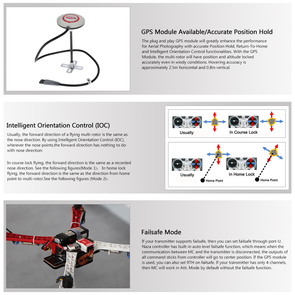 Original DJI Flame Wheel F450 ARF KIT NAZA-M Lite GPS 420 Lite ESC 2312  Motor Quadcopter Combo Set Frame