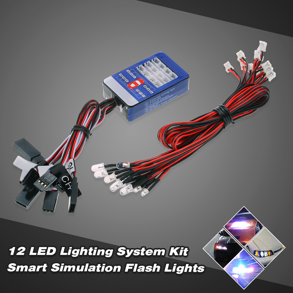 12 LED Lighting System Kit Steering Brake Smart Simulation Flash ...