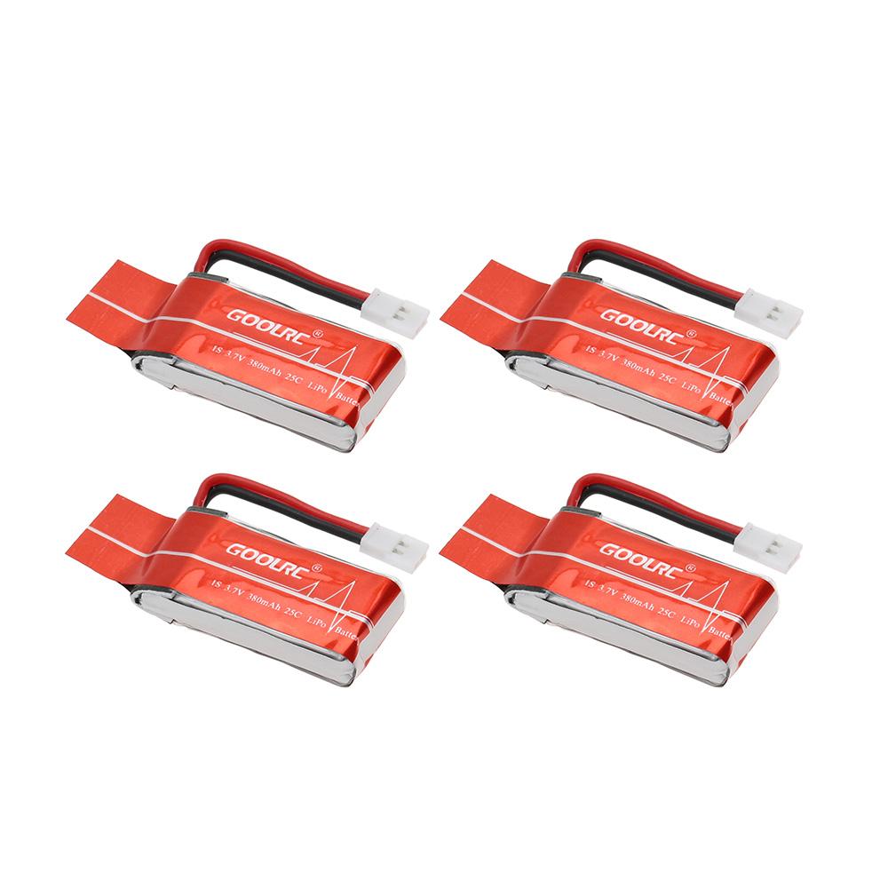 Goolrc 4pcs 3 7v 380mah 25c litio bater a y 4 puertos - Cargador de baterias ...