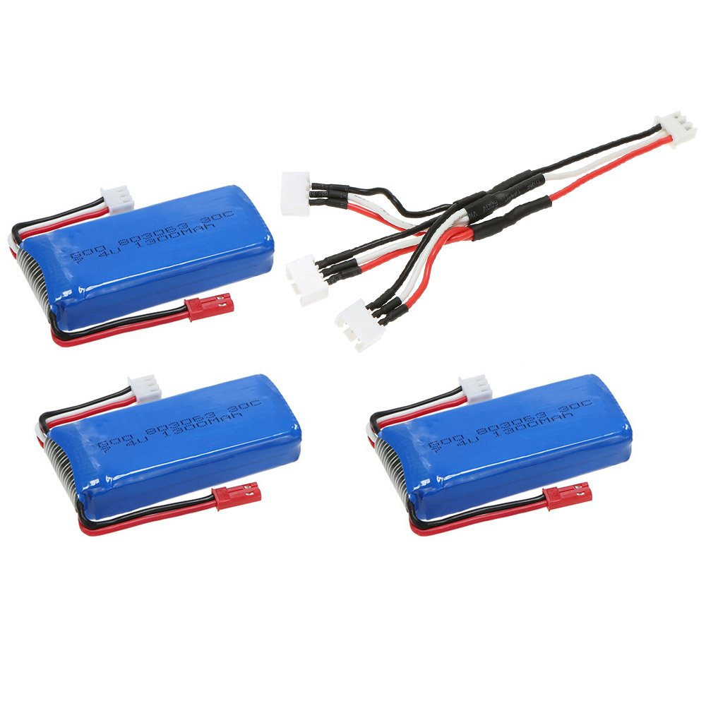 3pcs am lior 7 4v 1300mah 30c lipo batterie avec c ble de connexion pour mjx x101 rc quadcopter. Black Bedroom Furniture Sets. Home Design Ideas