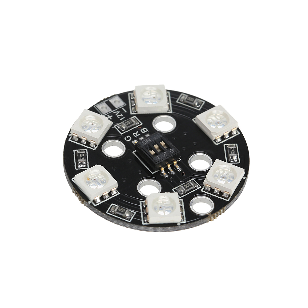 rvb5050 led x6 12v plaque lampe ronde 7 couleurs switch. Black Bedroom Furniture Sets. Home Design Ideas