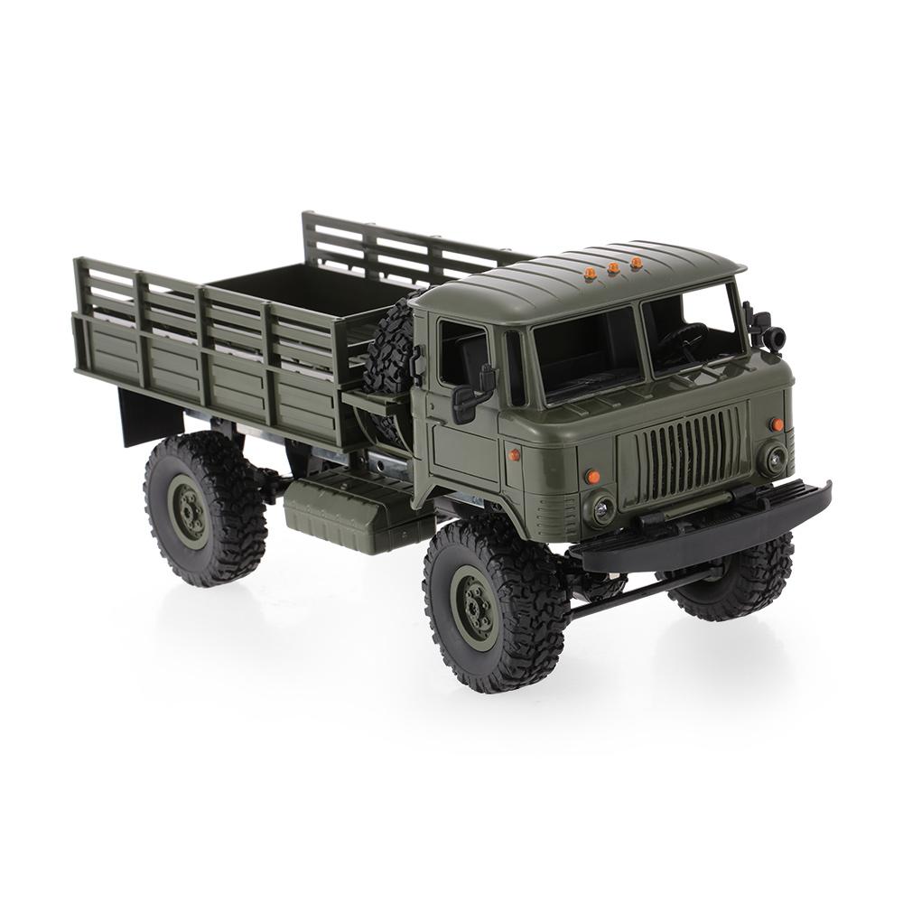 WPL B-24 1/16 RC Militär LKW Rock Crawler Armee Car Kit Fahrzeug mit ...