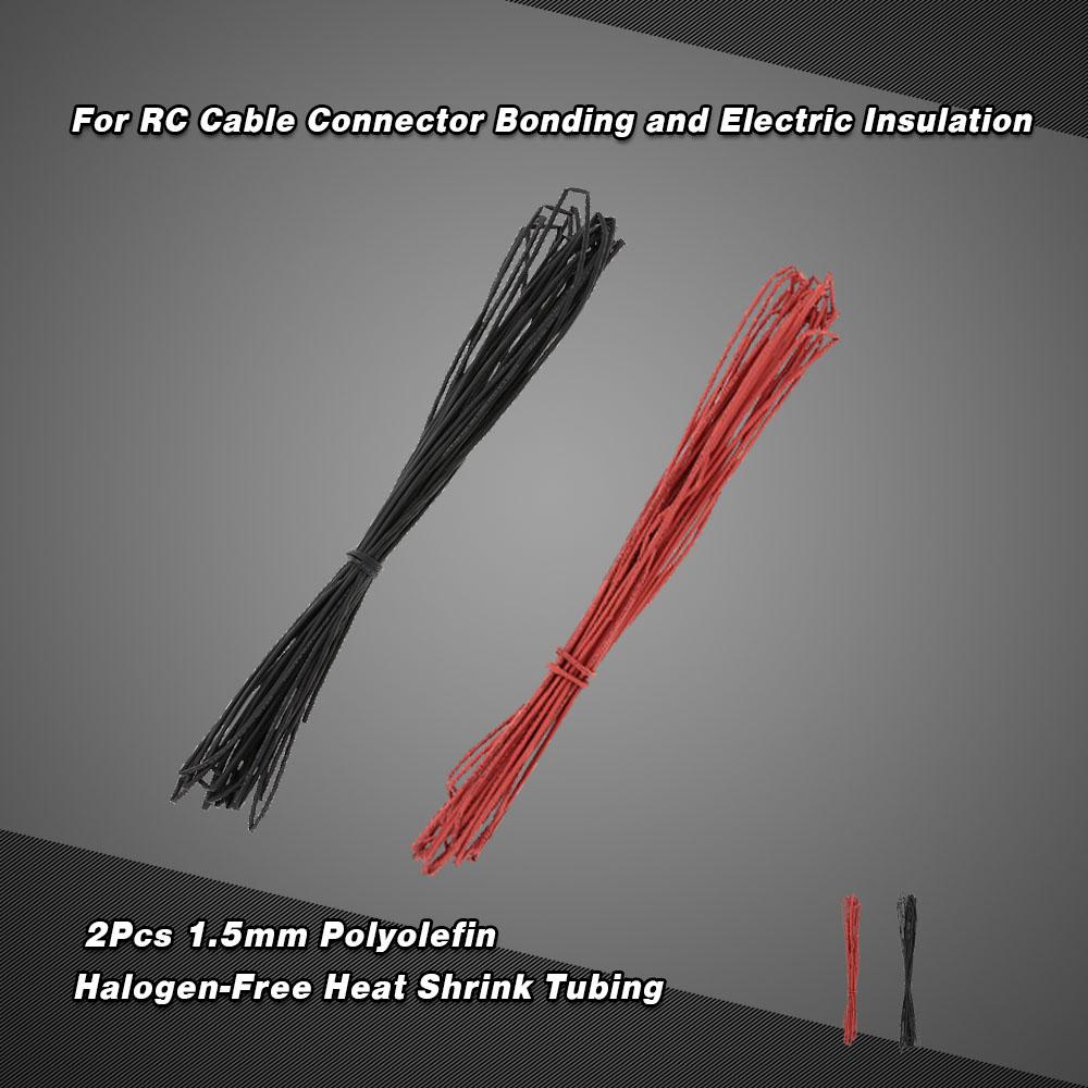 2ST 10 m 1,5 mm schwarz & rot Polyolefin halogenfreie ...