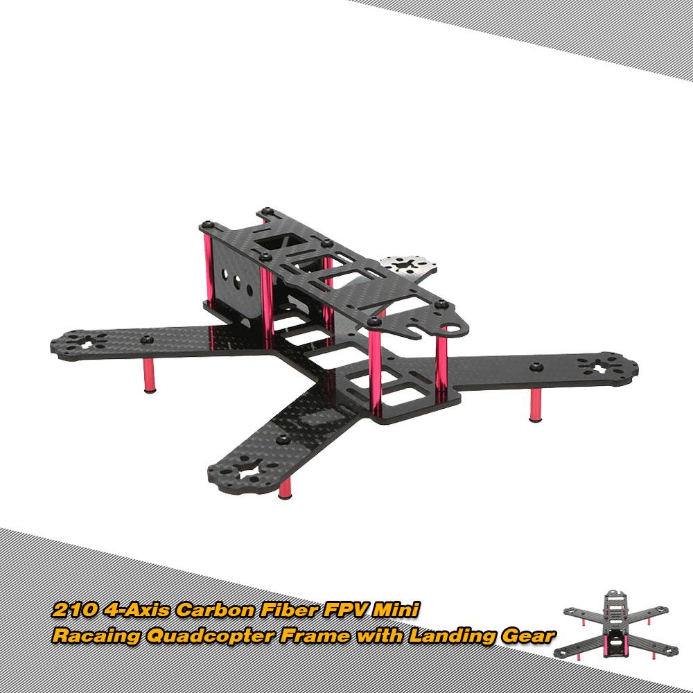 210 Mini 4-Axis FPV Racing Drone Quadcopter marco de fibra de ...