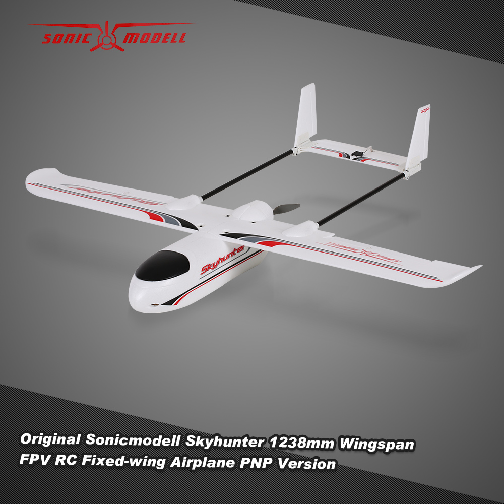 Original Sonicmodell Mini Skyhunter 1238mm Wingspan EPO FPV RC Fixed-wing  Airplane PNP Version with ESC Motor Servo - Rcmoment com