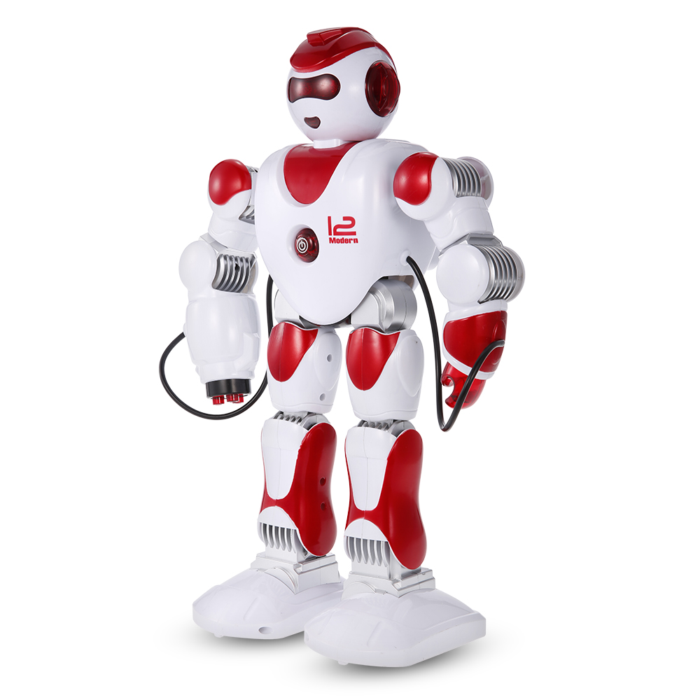 LE NENG TOYS K2 Police Woman Intelligent Programmable Humanoid Remote  Control Robot with Shoot Music Dance Arm-swing Function - RcMoment com