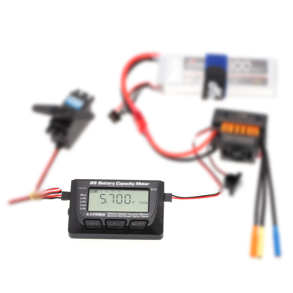 G.T.POWER 8S Battery Voltage Capacity Meter PPM Digital LED Servo ...