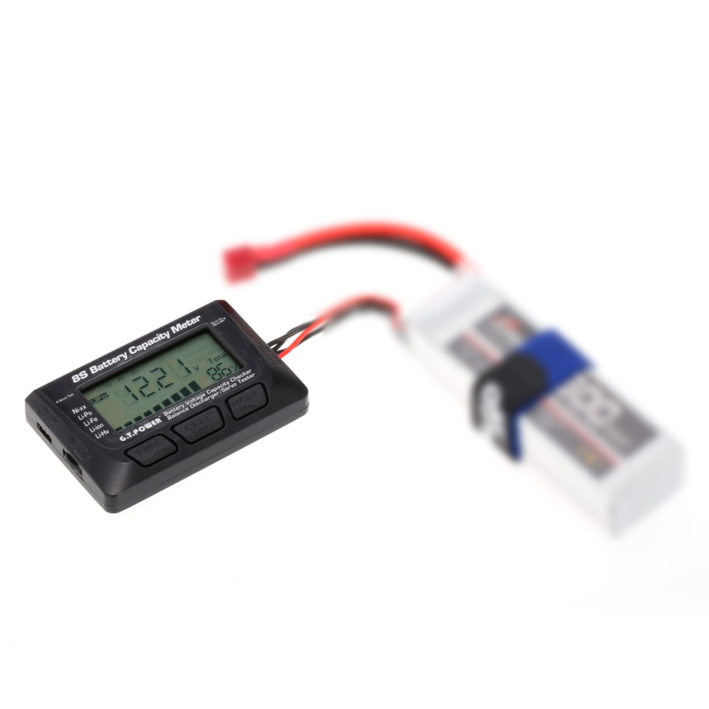 Gtpower 8s Battery Voltage Capacity Meter Ppm Digital Led Servo Circuit Tester For Rc Car Aircraft Quadcopter