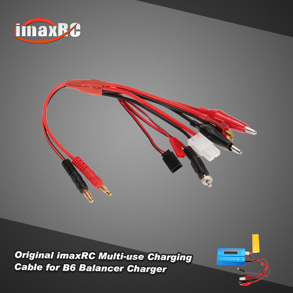 Original imaxRC Multi-use Charging Cable with Banana Connector for ...