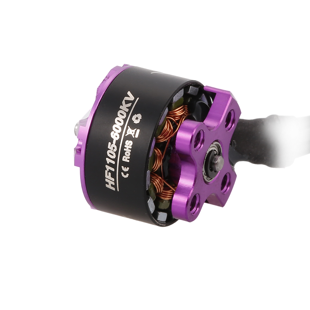 4 PCS HGLRC Flame HF1105 1105 6000KV 2-3S Brshless Motor for RC FPV Racing Drone