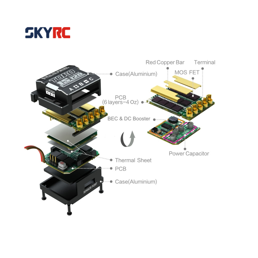 skyrc 1s120 120 a 1 s lipo batterie brushless sensored sensorless esc avec 6v 3 a bec pour. Black Bedroom Furniture Sets. Home Design Ideas