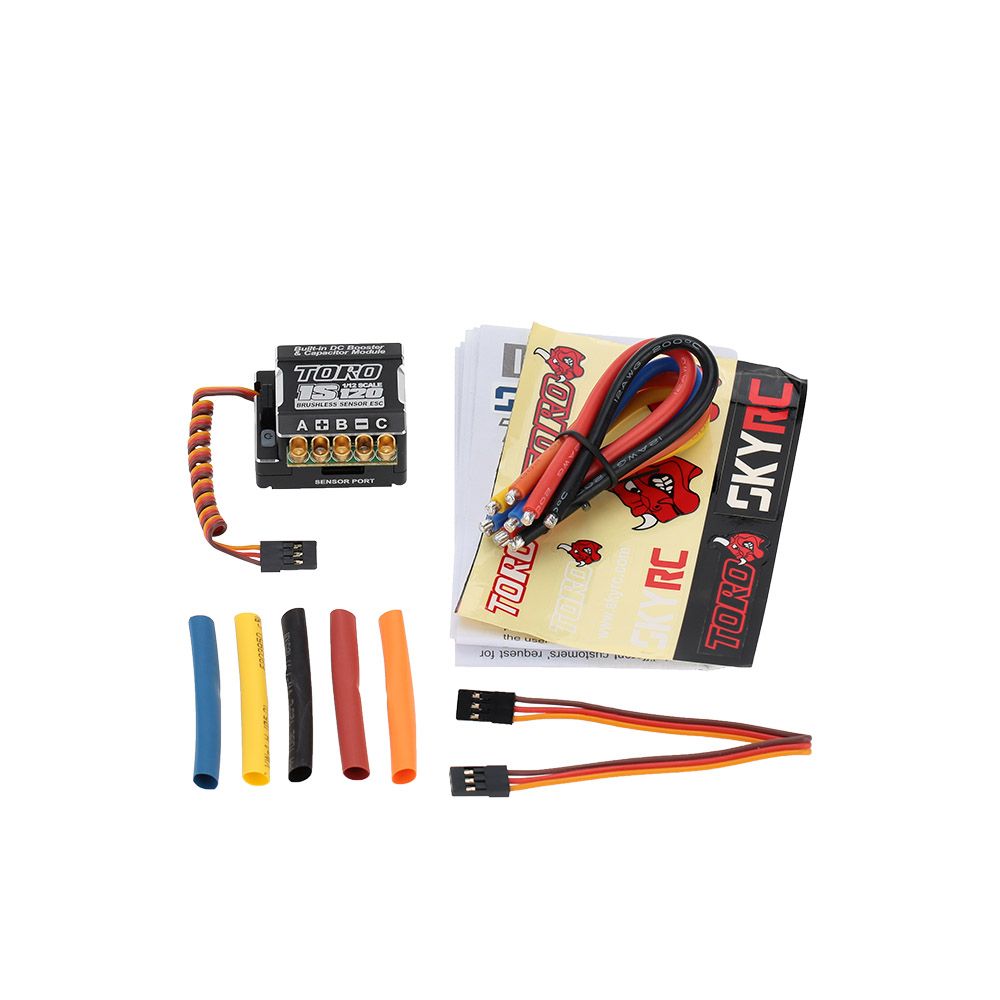 JIMI SkyRC 1S120 120A 1S LiPo Battery Sensored Brushless ESC with 6V//3A BEC for 1//12 On-road Competition RC Car