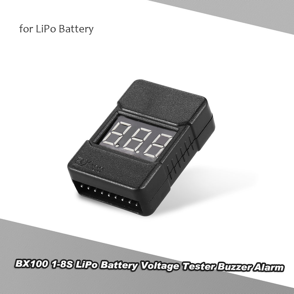 Bx100 1 8s Lipo Battery Voltage Tester Low Buzzer Alarm With Indicator Circuit Diagram Led