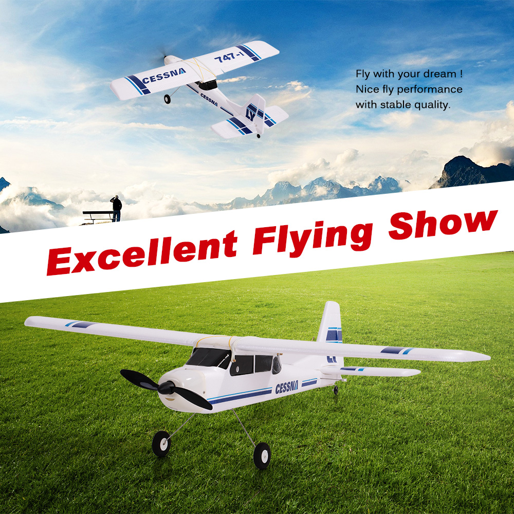 Volantexrc Cessna Tw 747 1 940mm Wingspan Epo Fixed Wing Trainer Parts Aircraft Accessories Pnp Version Rc Airplane With Esc Motor Servo
