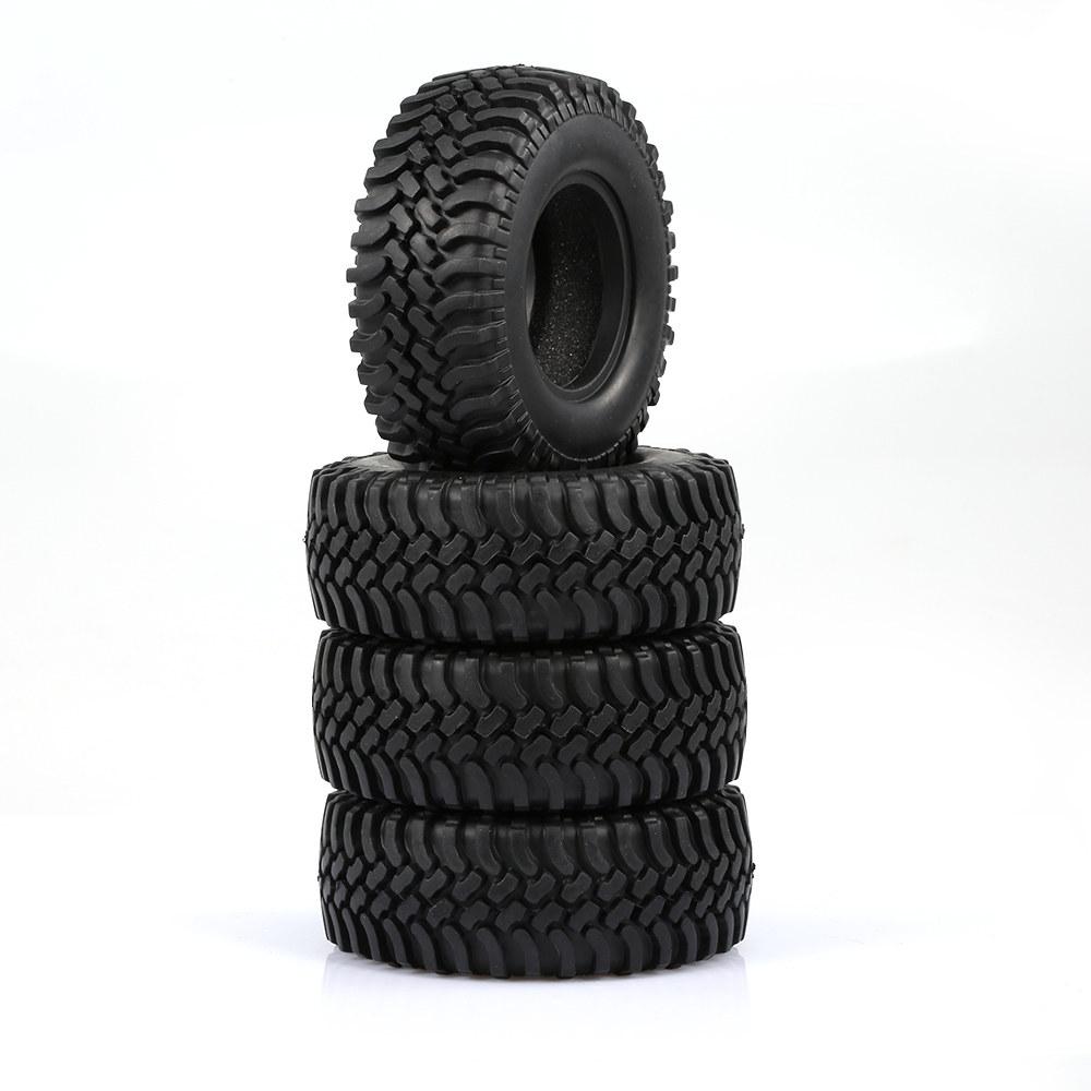 black 4PCS 100MM Rock Crawler Tyre - RcMoment com