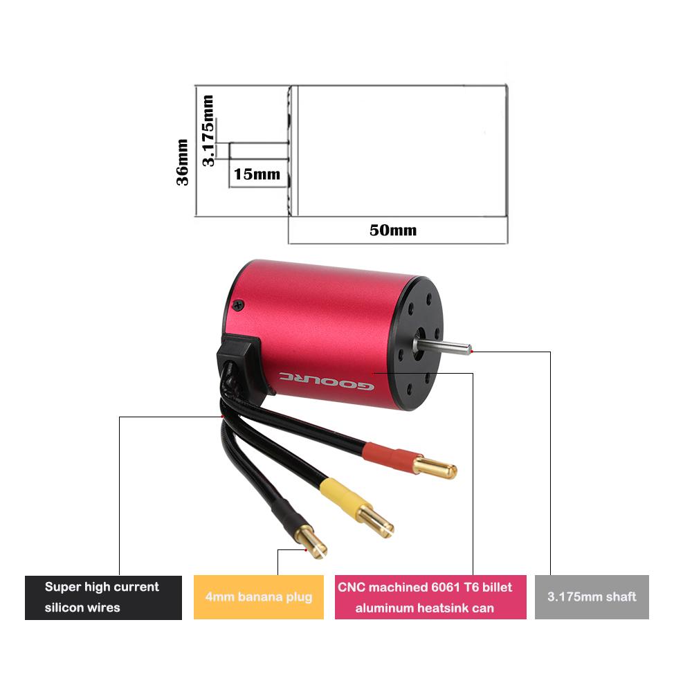 goolrc s3650 3900kv moteur sans brouillard sans senseur pour voiture 1 10 rc. Black Bedroom Furniture Sets. Home Design Ideas