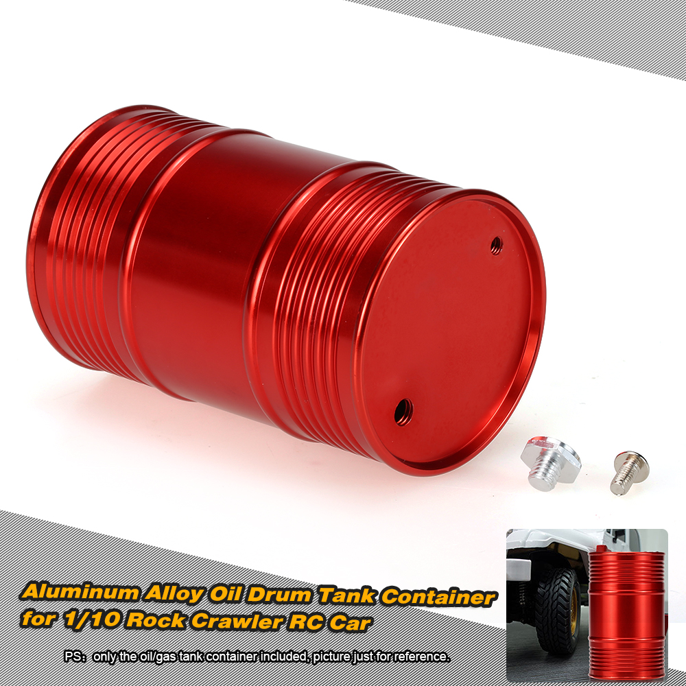 CNC Metal Oil Drum Tank Container for 1/10 RC4WD D90 SCX10 Rock Crawler RC  Car - RcMoment com