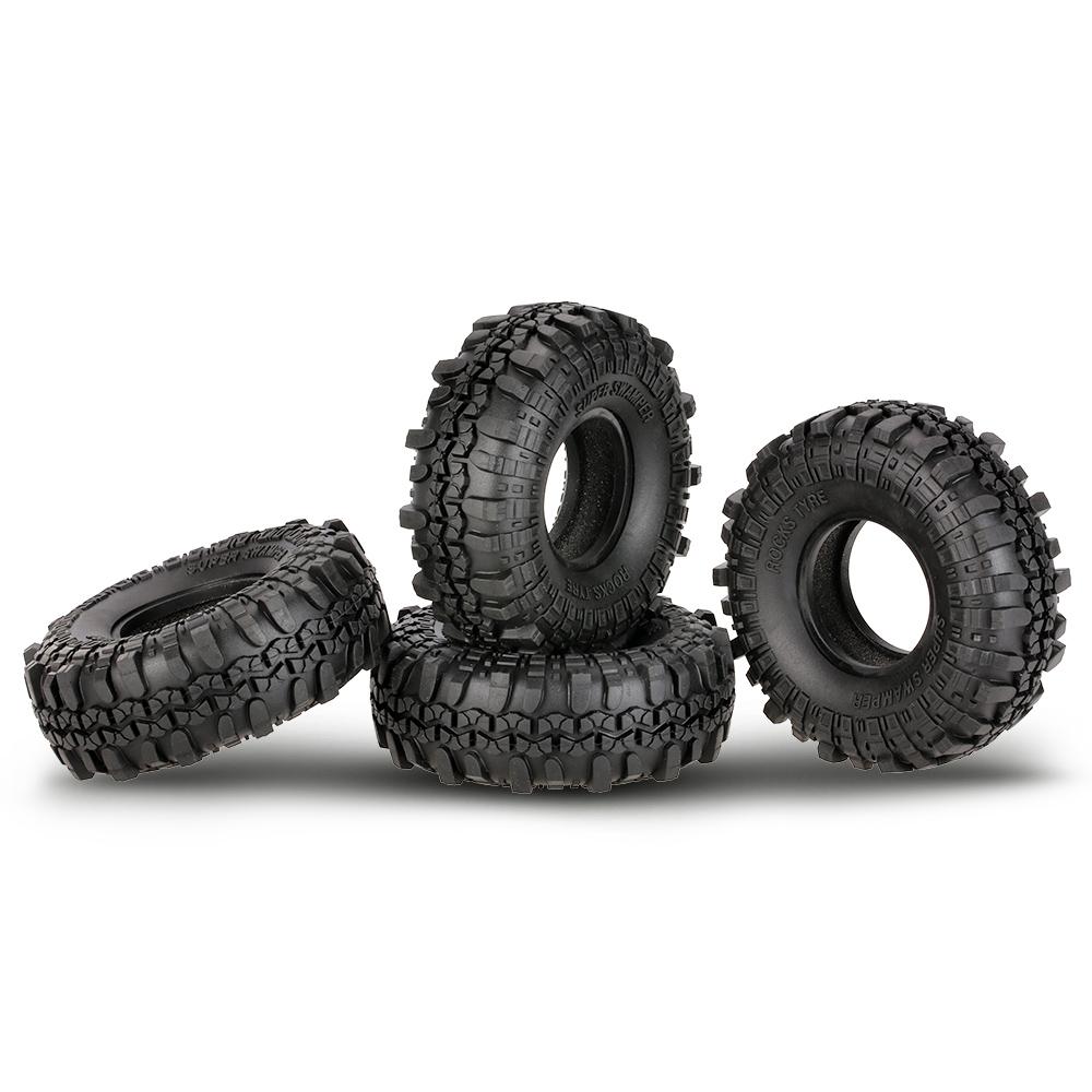4Pcs//PACK AUSTAR AX-4020 1.9 Inch 110mm 1//10 Rock Crawler Tires For D90 TF2 Car