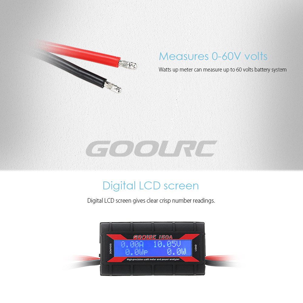 GoolRC 150A High-precision Watt Meter and Power Analyzer with ...