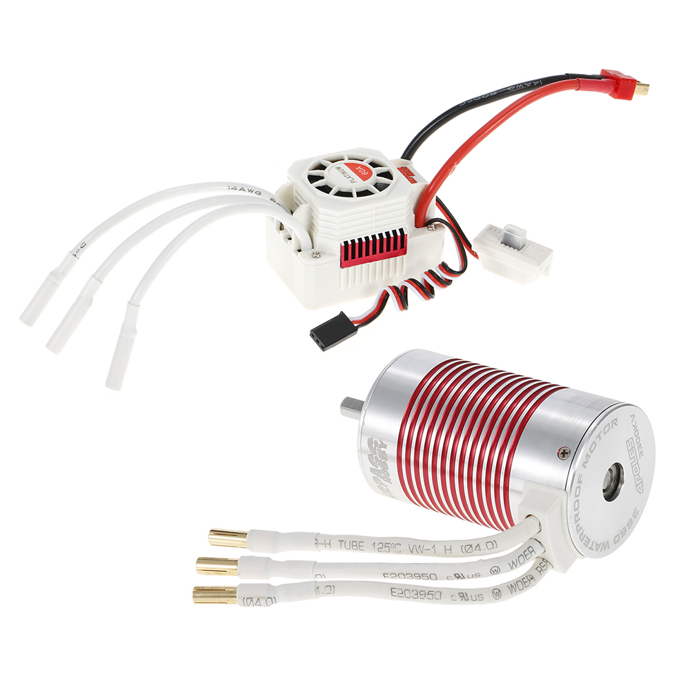 SURPASS HOBBY Platinum Set 3660 3300KV Brushless Motor with 60A ESC Waterproof for 1/10
