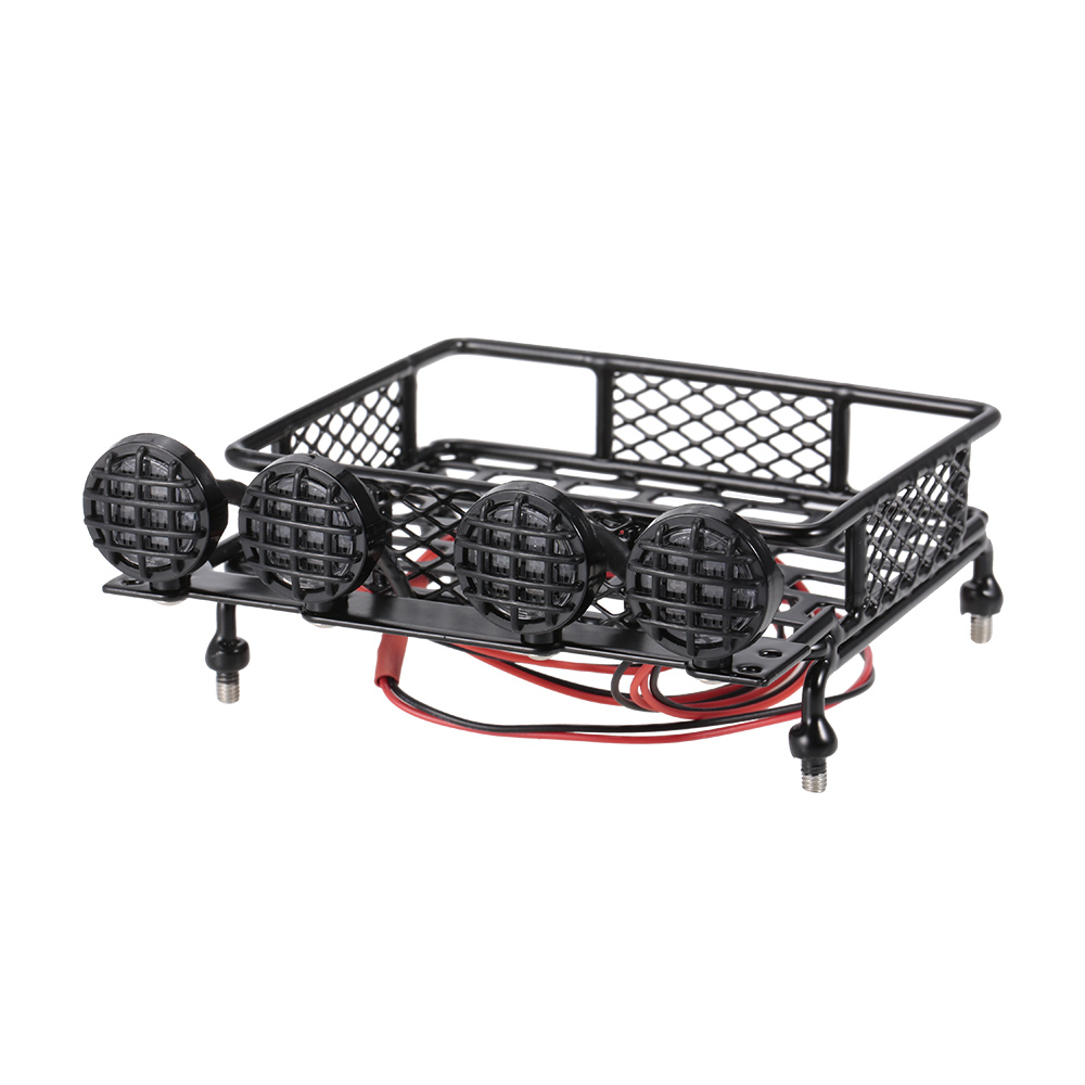 Roof rack luggage carrier light bar for 110 monster truck rc car roof rack luggage carrier light bar for 110 monster truck rc car crawler aloadofball Image collections